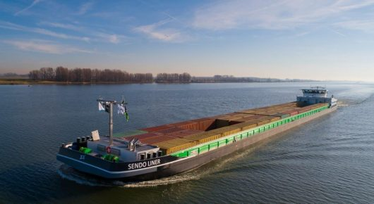 Inland shipping with green hydrogen from the Zuiderzeehaven in Kampen