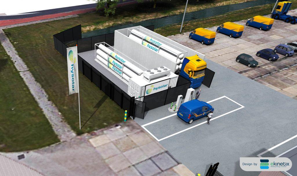 Hydrogen filling station Hysolar