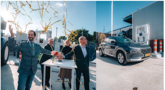 Officiële opening van het eerste openbare waterstoftankstation in de provincie Utrecht: Hysolar/Greenpoint in Nieuwegein